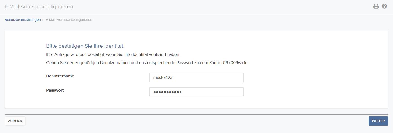 Hier erfahren Sie, wie Sie Ihre E-Mail-Adresse innerhalb Ihrer Kontoverwaltung hinterlegen können.