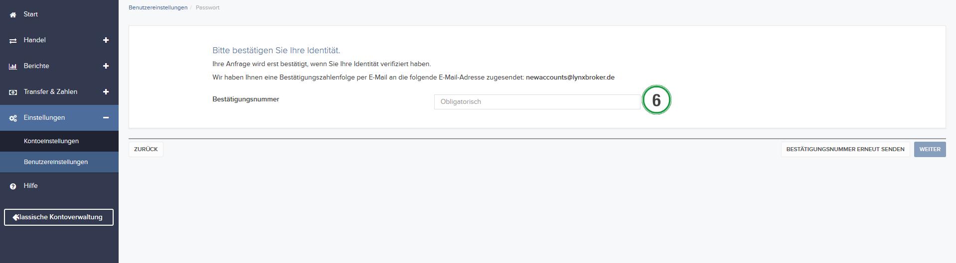 Hier können Sie nachvollziehen, wie Sie hier Passwort in der Kontoverwaltung ändern können.