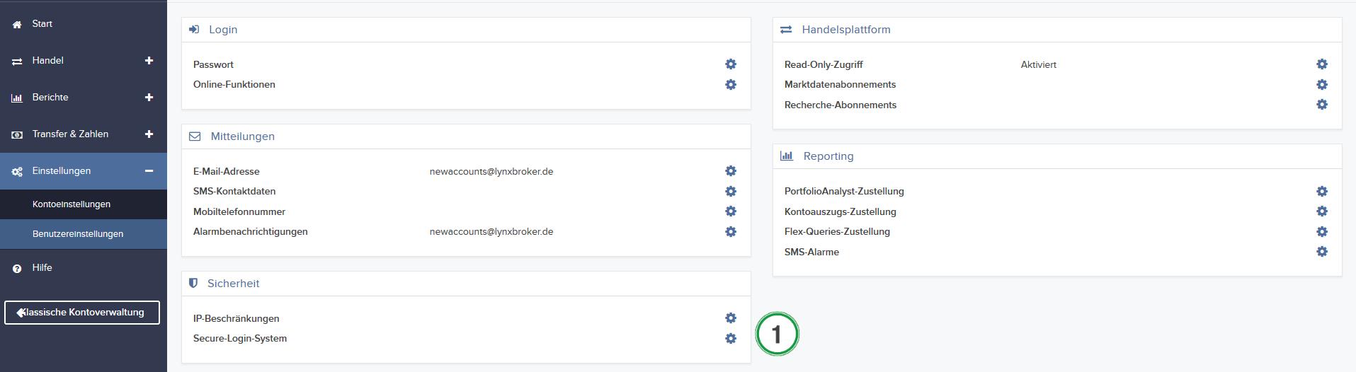 Hier können Sie nachvollziehen, wie Sie die Zwei Faktor Authentifizierung für Ihr Depot aktivieren können.