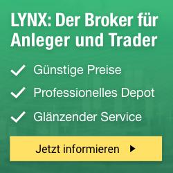 LYNX: Der Broker für Anleger und Trader. Günstige Preise. Professionelles Depot. Ausgezeichneter Service.